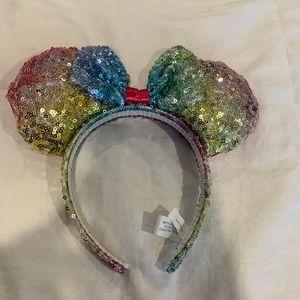 Rainbow Minnie Ears